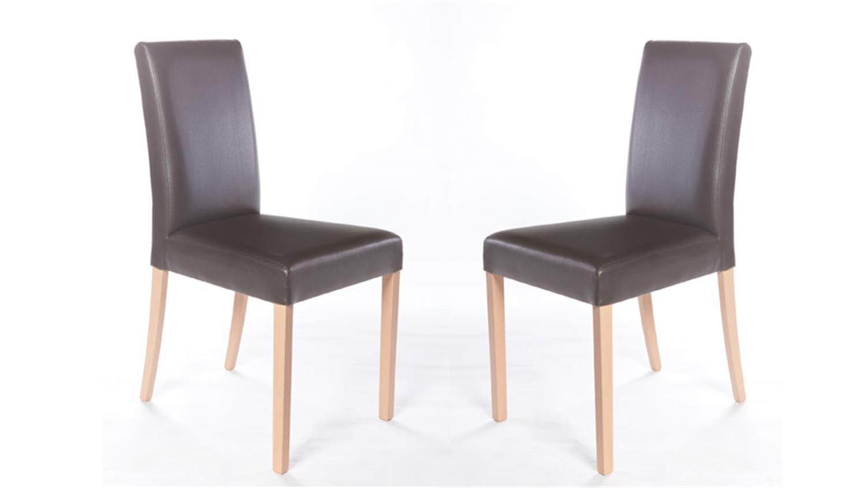 Stuhl st1 2er set polsterstuhl holz buche natur bezug braun for Polsterstuhl braun stoff