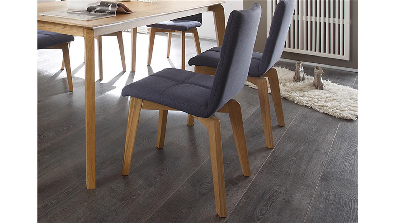 stuhl manon bezug jeans gestell eiche natur massiv. Black Bedroom Furniture Sets. Home Design Ideas