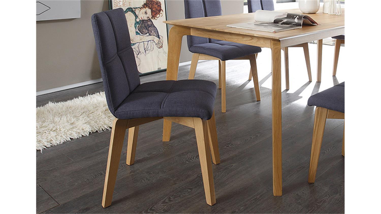 stuhl manon 4er set bezug jeans gestell eiche natur massiv. Black Bedroom Furniture Sets. Home Design Ideas