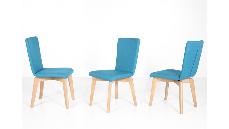 stuhl manon bezug petrol gestell eiche natur massiv. Black Bedroom Furniture Sets. Home Design Ideas