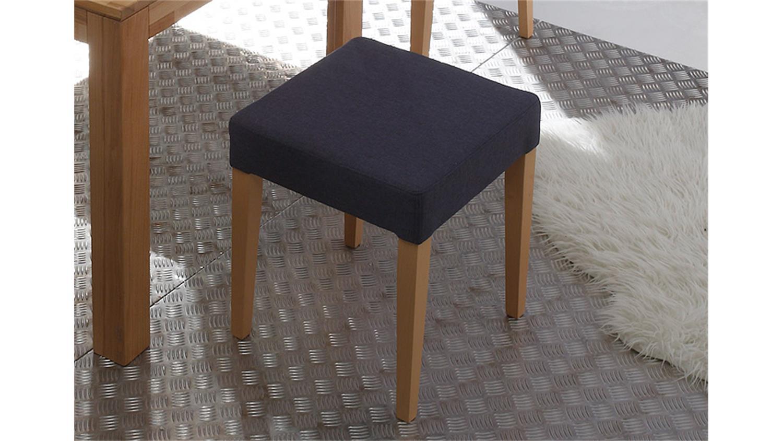 hocker ellen bezug jeans gestell buche natur massiv. Black Bedroom Furniture Sets. Home Design Ideas