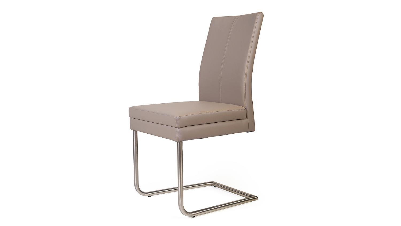 schwingstuhl goja stuhl in kaiman schlamm und edelstahl. Black Bedroom Furniture Sets. Home Design Ideas