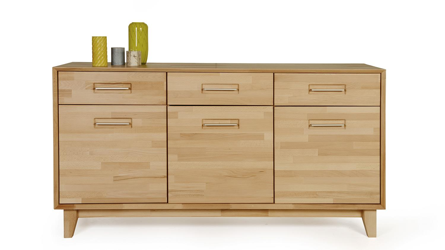 Sideboard 1 numero uno eiche natur massiv ge lt soft close for Sideboard natur