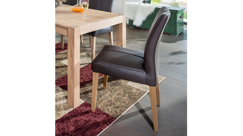 stuhl flynn 1 in kaiman braun und eiche natur massiv. Black Bedroom Furniture Sets. Home Design Ideas