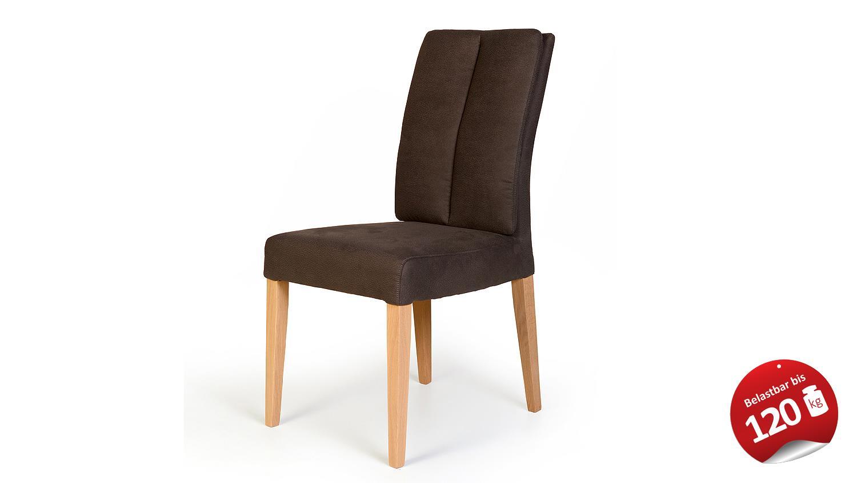stuhl flynn 2 in zeus braun und eiche bianco massiv. Black Bedroom Furniture Sets. Home Design Ideas