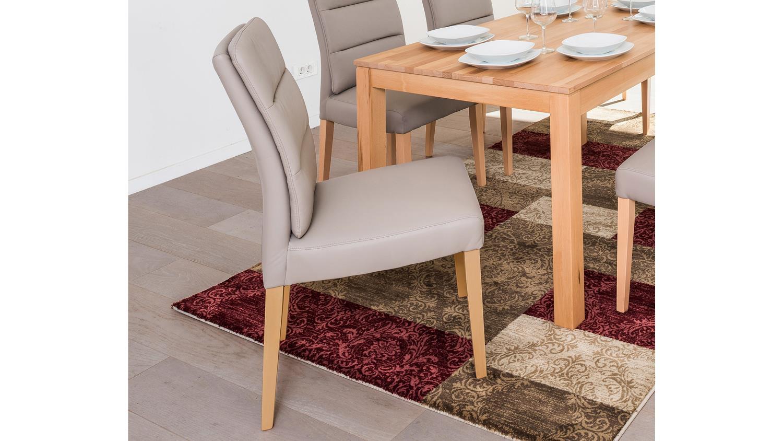 stuhl flynn 3 in kaiman schlamm und eiche natur massiv. Black Bedroom Furniture Sets. Home Design Ideas