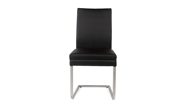 schwingstuhl goja stuhl in kaiman schwarz und edelstahl. Black Bedroom Furniture Sets. Home Design Ideas