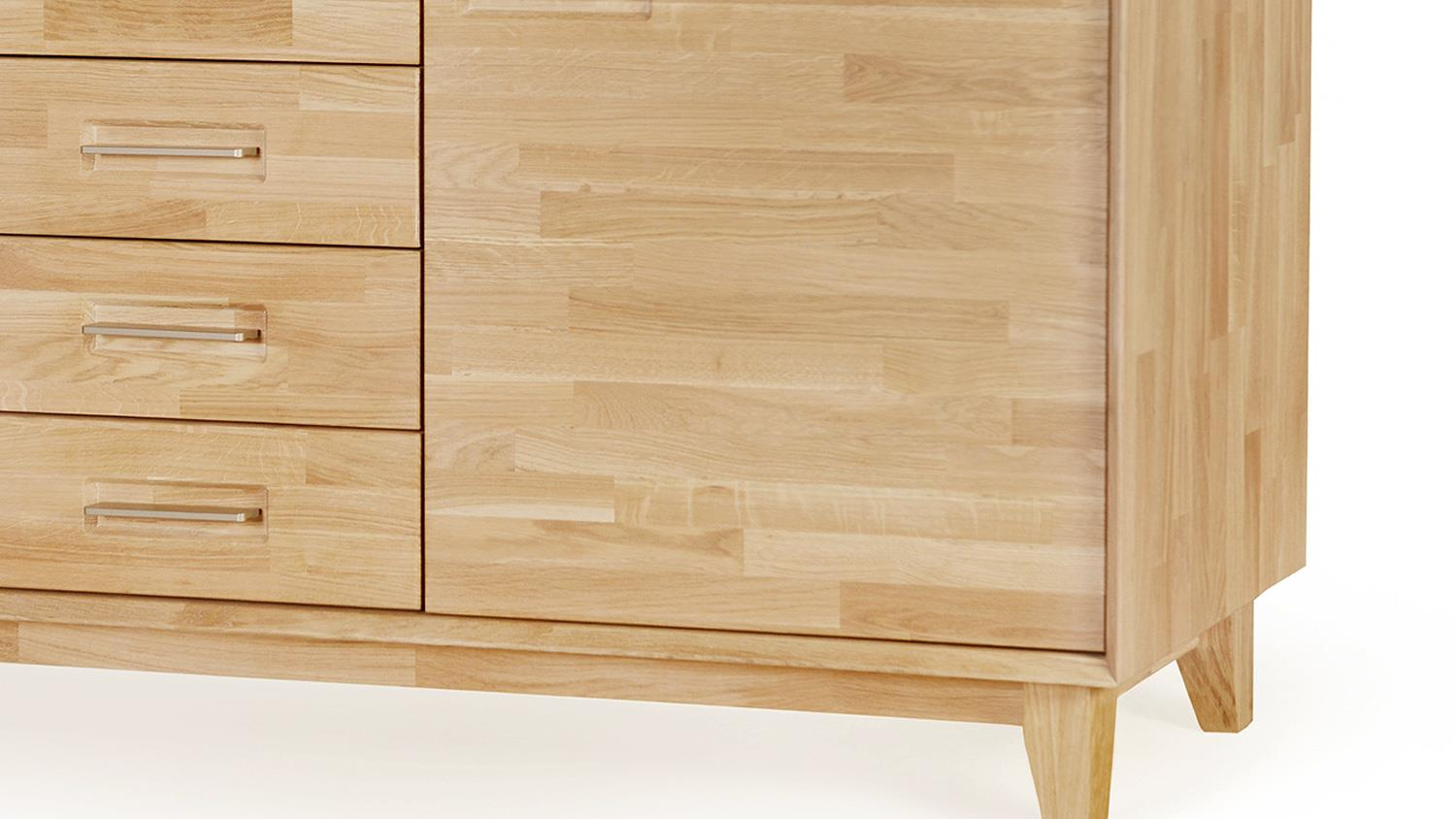 Sideboard 2 numero uno eiche natur massiv ge lt soft close for Sideboard natur