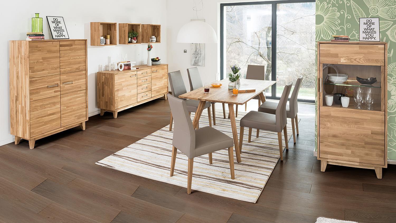 vitrine numero uno eiche natur massiv ge lt soft close. Black Bedroom Furniture Sets. Home Design Ideas
