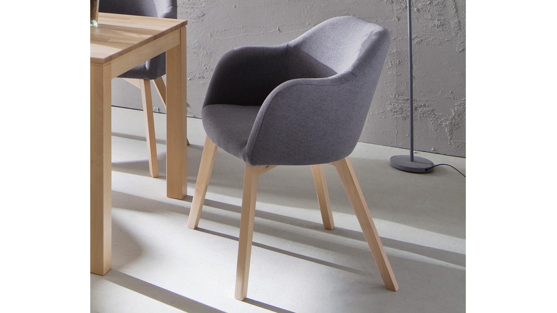systemsessel theo baltimore grau 4 fu spider buche natur. Black Bedroom Furniture Sets. Home Design Ideas