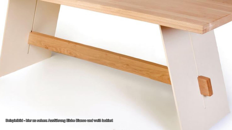 Esstisch ALADIN in Eiche Natur und weiß Tisch 200x100 cm