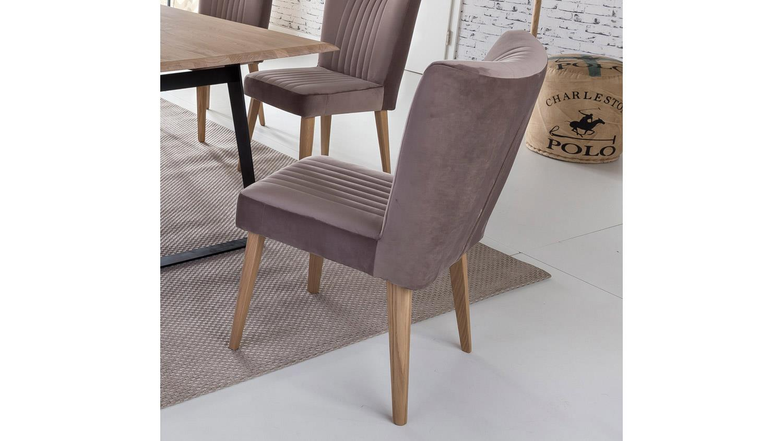 stuhl jan polsterstuhl eiche natur und stoff taupe. Black Bedroom Furniture Sets. Home Design Ideas