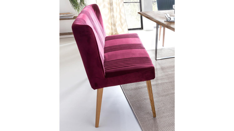 bank jennifer sitzbank in eiche natur und stoff chianti rot. Black Bedroom Furniture Sets. Home Design Ideas