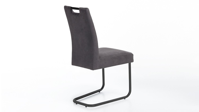 Schwingstuhl kathy stuhl in anthrazit gestell metall for Schwingstuhl schwarz