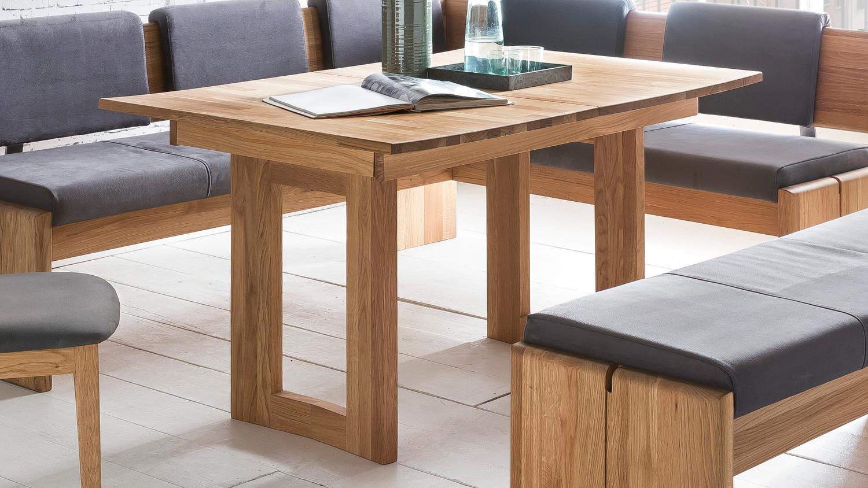 esstisch komforto 1xl eiche natur massiv ge lt ausziehbar 130 180x90. Black Bedroom Furniture Sets. Home Design Ideas