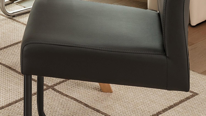schwingstuhl kadira kaiman fango anthrazit gestell schwarz. Black Bedroom Furniture Sets. Home Design Ideas