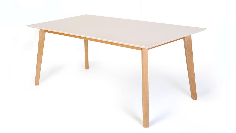 Esstisch vinko 1xl 140 180x80 tisch eiche bianco massiv for Esstisch eiche 140 x 80