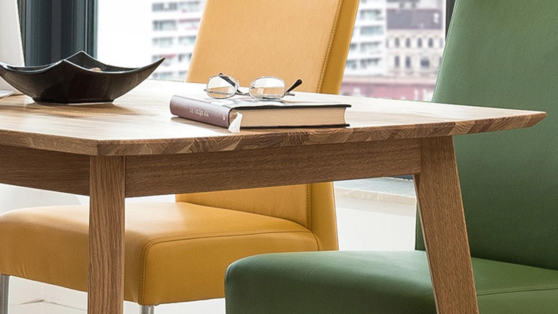 Esstisch VINKO 120x80 Tisch in Eiche Natur massiv