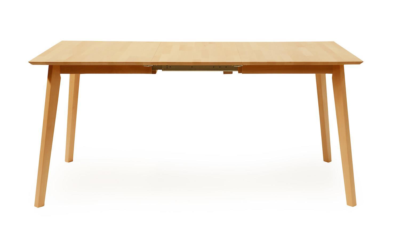 esstisch vinko xl1 120 160x80 tisch buche natur massiv ausziehbar. Black Bedroom Furniture Sets. Home Design Ideas