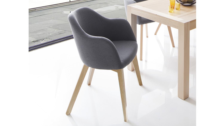 Sympathisch Stuhl Stoff Grau Foto Von
