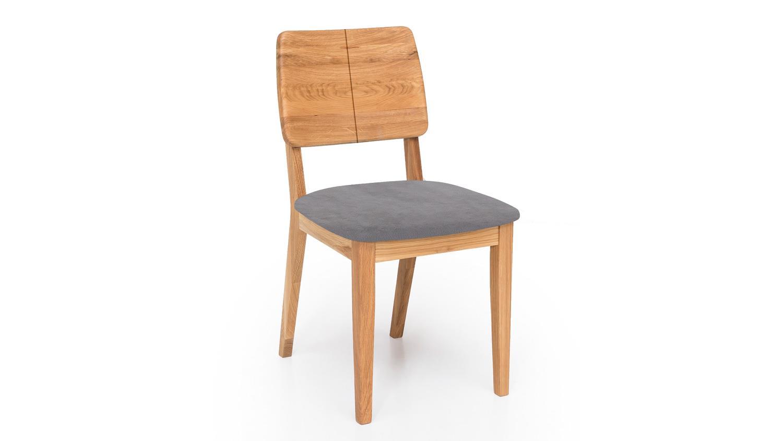 stuhl norman 2 esszimmerstuhl stoff grau und eiche natur massiv ge lt. Black Bedroom Furniture Sets. Home Design Ideas