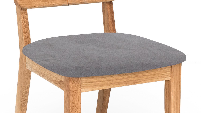 Stuhl norman 2 esszimmerstuhl stoff grau und eiche natur massiv ge lt - Stuhl grau eiche ...