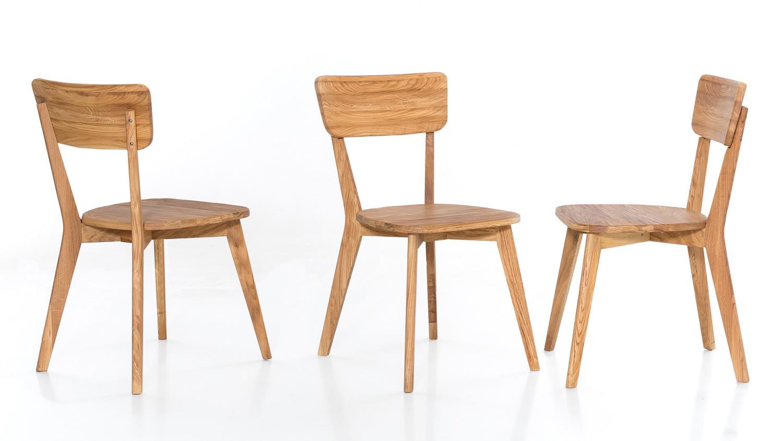 Holzstuhl NOCI 1 Stuhl Esszimmer Stuhlsystem Eiche natur
