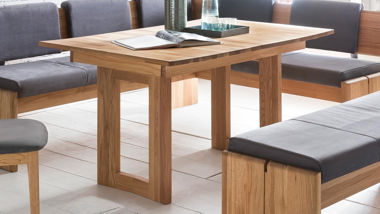 eckbankgruppe stockholm eiche natur massiv ge lt stoff grau 3 teilig. Black Bedroom Furniture Sets. Home Design Ideas