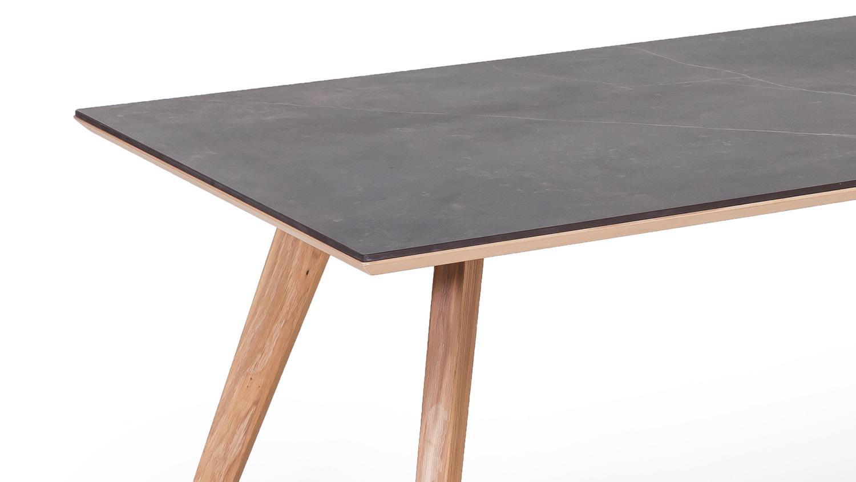 esstisch trondheim dekton kelya eiche bianco massiv 160x90 mit video. Black Bedroom Furniture Sets. Home Design Ideas