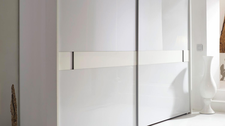 Schwebeturenschrank 20up Kleiderschrank In Weiss Matt Glas
