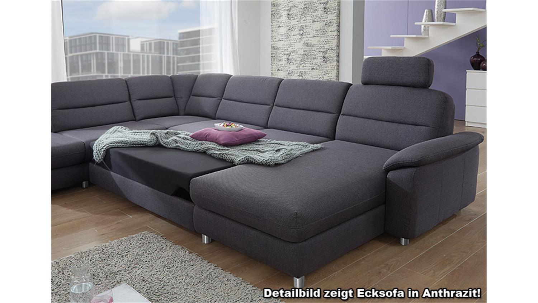 Ecksofa rechts delano wohnlandschaft sofa in grau und braun for Ecksofa in grau
