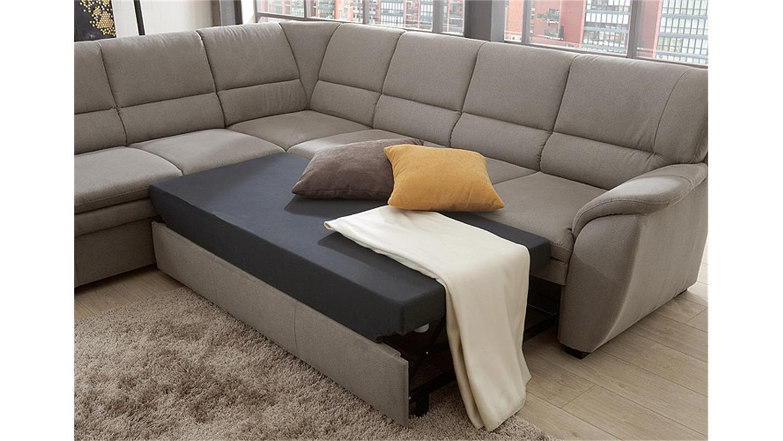 ecksofa links ginger wohnlandschaft grau mit bettfunktion. Black Bedroom Furniture Sets. Home Design Ideas