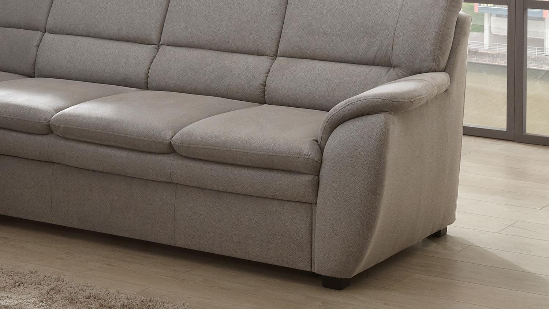 ecksofa ginger wohnlandschaft links stoff grau federkern 261x239 cm. Black Bedroom Furniture Sets. Home Design Ideas