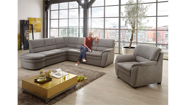 ecksofa ginger grau ottomane links 3 sitzer rechts federkern. Black Bedroom Furniture Sets. Home Design Ideas
