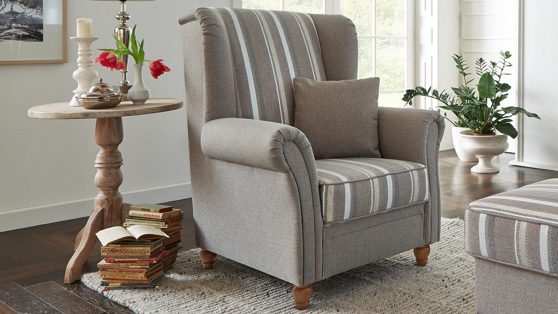 landhaus sessel best heine sessel in leder samt oder. Black Bedroom Furniture Sets. Home Design Ideas