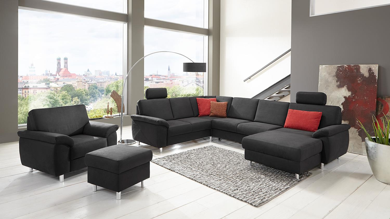 wohnlandschaft winston ecksofa sofa polsterm bel anthrazit. Black Bedroom Furniture Sets. Home Design Ideas