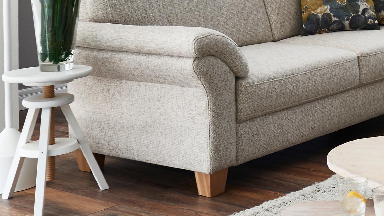 sofa borkum 3 sitzer in stoff natur mit federkern 186 cm landhausstil. Black Bedroom Furniture Sets. Home Design Ideas