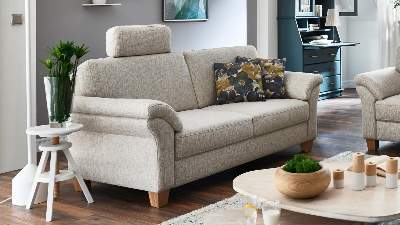 Sofagarnitur borkum 3 2 1 garnitur stoff natur federkern for Couch 3 2 1 garnitur