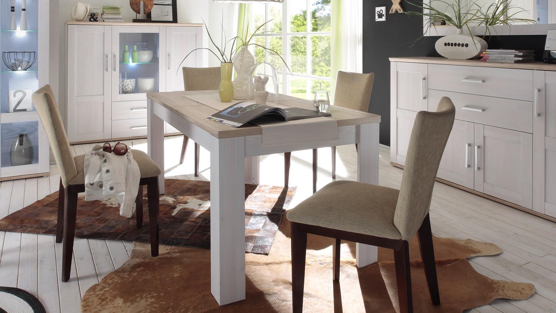 esstisch romance sibiu l rche eiche san remo hell 160 200 cm. Black Bedroom Furniture Sets. Home Design Ideas