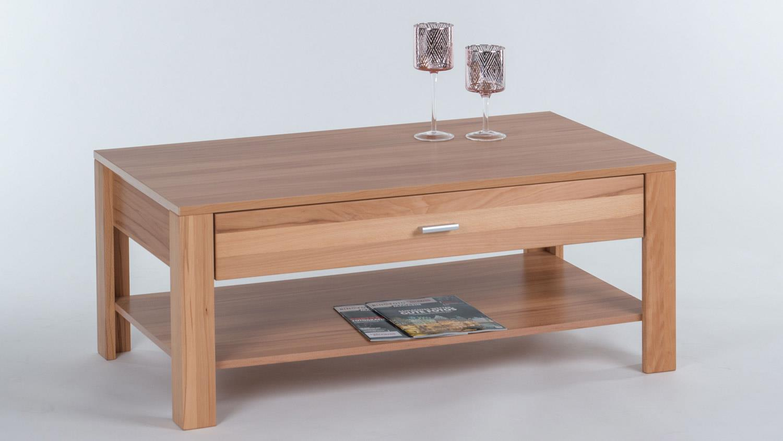 couchtisch donau in kernbuche teilmassiv mit 1 schubkasten 110x60 cm. Black Bedroom Furniture Sets. Home Design Ideas