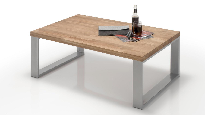 couchtisch leon wohnzimmertisch in wildeiche massiv ge lt 110x70 cm. Black Bedroom Furniture Sets. Home Design Ideas