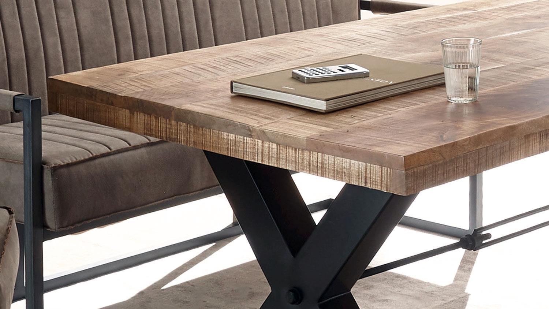 Esstisch Esszimmer Tisch Massivholz Echtholz Mango Metall