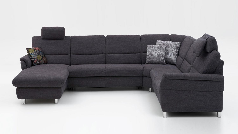 wohnlandschaft springs stoff anthrazit inkl nosagfederung. Black Bedroom Furniture Sets. Home Design Ideas