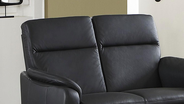 sofa bornholm 2 sitzer echtleder schwarz nosagfederung. Black Bedroom Furniture Sets. Home Design Ideas
