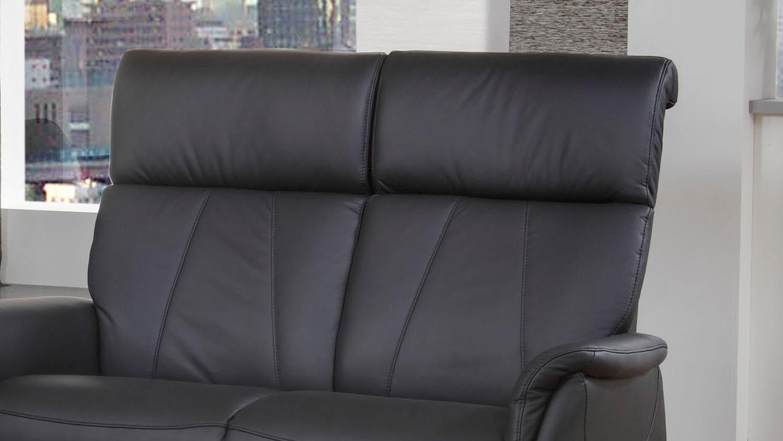 Sofa MAGIC RELAXX 2 Sitzer Echtleder Schwarz Nosagfederung