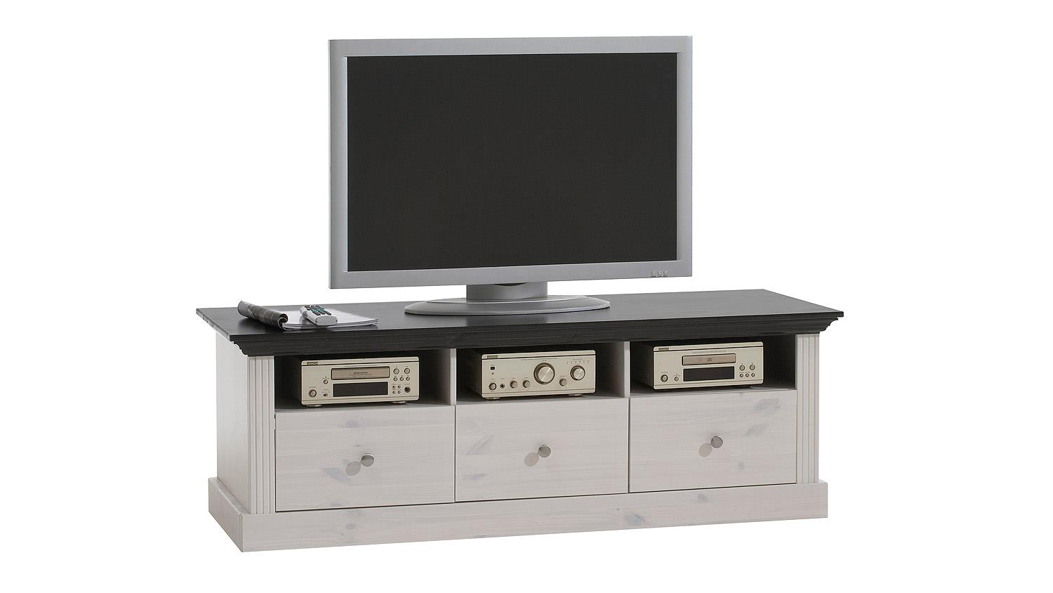 tv board monaco kiefer massiv wei white wash kolonial. Black Bedroom Furniture Sets. Home Design Ideas
