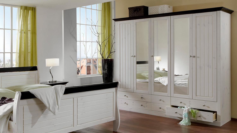 schlafzimmer monaco kiefer massiv white wash kolonial. Black Bedroom Furniture Sets. Home Design Ideas