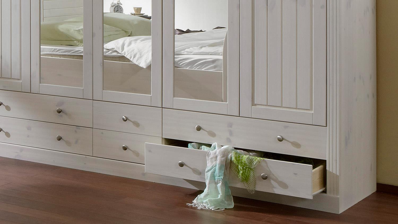 Schlafzimmer monaco kiefer massiv white wash kolonial for Schlafzimmer kiefer