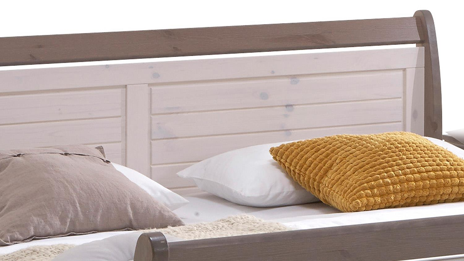 bett monaco kiefer massiv white wash stone 180x200 cm. Black Bedroom Furniture Sets. Home Design Ideas