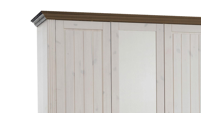 kleiderschrank monaco kiefer massiv white wash stone b 145 cm. Black Bedroom Furniture Sets. Home Design Ideas